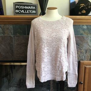 Anthropologie Knitted Knotted Laceveil Sweater